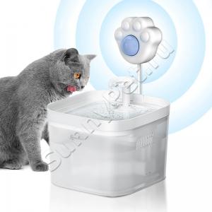Автопоилка фонтанчик для кошек и собак с датчиком движения DownyPaws (1.8л, ИК датчик движения, фильтры, насос 2 скорости, аксессуары для чистки)