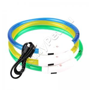 Светодиодный ошейник для собак с USB-зарядкой