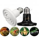 Инфракрасный керамический тепловой излучатель (керамическая лампа) для аквариумов и террариумов E27 плоская/круглая 25-100 Вт