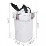 Внешний аквариумный фильтр SunSun HW-504B с помпой и встроенным ультрафиолетовым стерилизатором (uv-лампой) (5 Вт, 1000 л/ч)