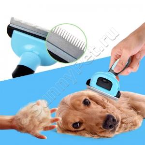 Щётка для вычесывания кошек и собак разных размеров PetComb 5 см - 10 см