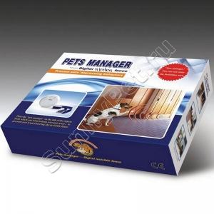 Электронный беспроводной невидимый забор для собак и кошек с датчиком удаления/приближения PetsManager (количество животных неограничено)