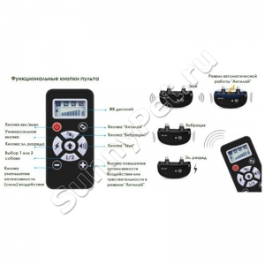 Электрический ошейник для собак A+ Tainer (П-160) с функцией антилай, вибро и электростимуляцией